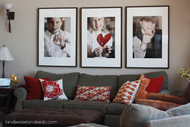 Valentine photo decorations